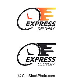 Express delivery icon concept. Watch icon for service,...