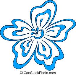 Flower blue, pictogram