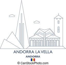 Andorra La Vella City Skyline, Andorra - Andorra La Vella...