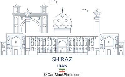 Shiraz City Skyline, Iran - Shiraz Linear City Skyline, Iran