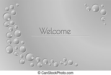 Welcome sign with gray background