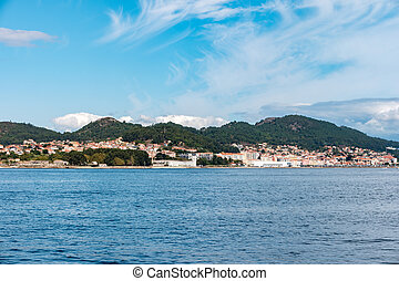 Overlook of the coast of Cangas in the province of...
