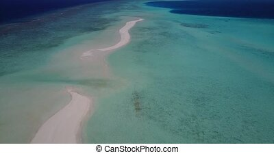 v05743 Aerial flying drone view of Maldives white sandy...