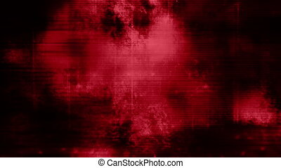 Red horror grunge fast paced looping animated background -...