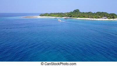 v05378 Aerial flying drone view of Maldives white sandy...