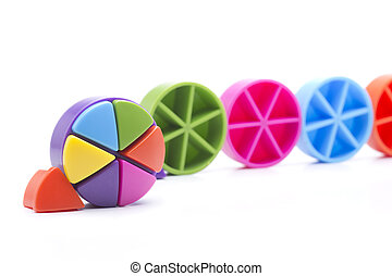 round colors - Colored triangles, which are arranged in a...