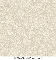 seamless snowflake pattern (vector) - seamless snowflakes...