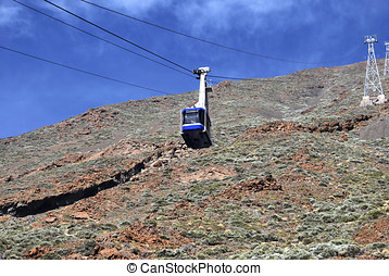 Mountain cablecar - Cablecar in the mountain. Transport for...