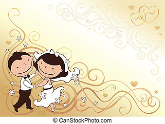 wedding_card - wedding invitation with dancing pair