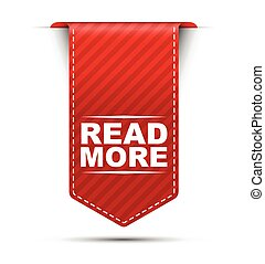 read more, red vector read more, banner read more