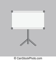 Blank projection screen with copy-space. Vector