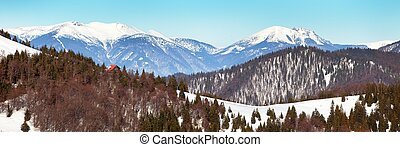 View from Velka Fatra mountains to Mala Fatra mountains -...