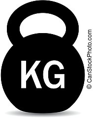 Kilogram weight dumbbell icon - Kilogram weight dumbbell...