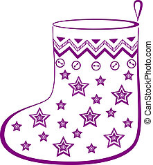 Christmas stocking with stars - Christmas stocking for gifts...