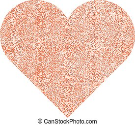 Heart Shape with Paint Texture