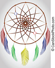 dream catcher, abstract art illustration