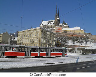 Brno cathedral - St. Peter and Paul cathedral in Brno under...