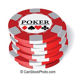 Gambling chips - The vector illustration of gambling chips