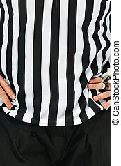 Referee in Black and White - An Ice Hockey Referee ist...