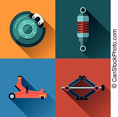 automotive spare part icon. - Vector Illustration of...
