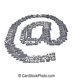 At symbol - An Internet e-mail at symbol made of web...