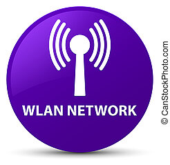 Wlan network purple round button - Wlan network isolated on...