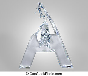 3d image of water alphabet