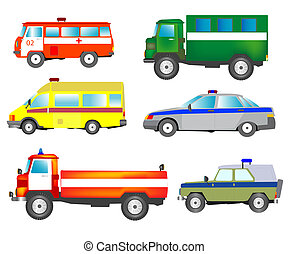 Much cars of the special services - Much varied cars of the...