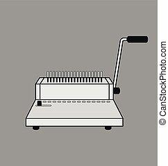 binding machine. - Vector Illustration of binding machine.
