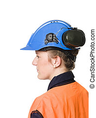 Female Building worker