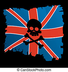 Pirate flag - Britannic pirate flag with skull