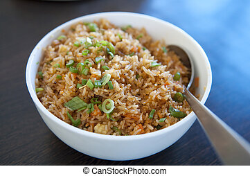 Fried rice - A bowl of delicious oriental fried rice