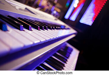 Piano detail with Stage Lighting