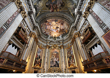 Rome church - Rome, Italy - famous Ignazio Loyola church...