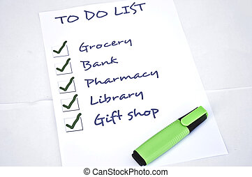 Done to do list - To do list with all checked