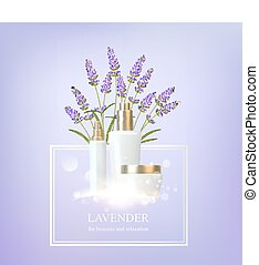 Women care cosmetic illustration. - Women care cosmetic in...
