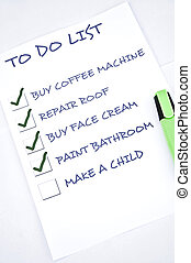 Make a child - To do list with make a child