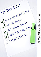 Visit dentist - To do list with visit dentist