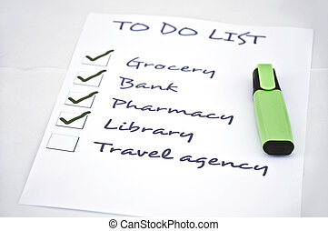 Travel agency - To do list with travel agency