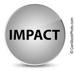 Impact elegant white round button - Impact isolated on...