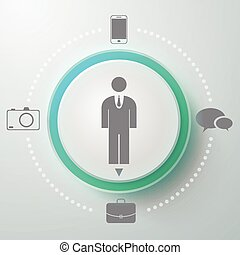 Male Selector Round Composition - Creative composition with...