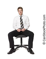 Man siting on an office chair