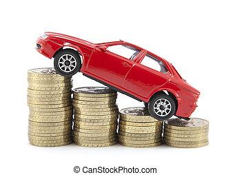 ahorro, dinero, coche