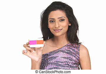 Indian woman with credit card