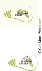 Renewable energy of earth in bulb. The concept