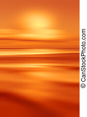 Abstract background of blurred sea sunset with wave. Travel...
