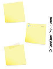 Adhesive note vector illustration.