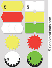 Price tag vector illustration set - A set of different price...