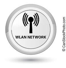 Wlan network prime white round button - Wlan network...