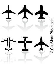 Airplane symbol vector set. - Vector illustration set of...